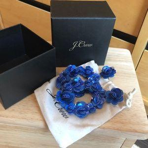 J.Crew Blue Chandelier Earrings